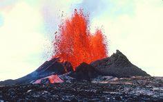 Pu`u `O`o vent, Kilauea Volcano, Hawai'i