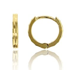 14K Yellow Gold High Polished 1.30x10.00mm Huggie Earring. 14K SOLID GOLD: This product is made of solid 14K gold and each piece is carefully trademarked with the metal purity for certification. Each piece is stamped 14K or 585 and that guarantees the quality and craft. DESIGN & FINISH: We understand gold and we really understand the manufacturing process of precious metal. Each piece is carefully designed from scratch by our design department and we present to you our finished product…