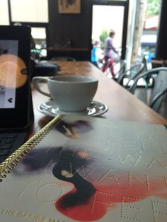 Working from a local coffee shop using my 2016 Desire Map Planner!