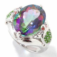 VERY NICE NYC II 9.32ctw Exotic Topaz & Multi Gemstone Turtle Ring