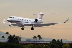 Private jet close to landing. Cabin crew training details at www. Jets Privés De Luxe, Luxury Jets, Luxury Private Jets, Private Plane, Gulfstream G650, Airplane Drone, Airplane Toys, Jet Privé, Civil Aviation