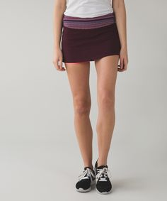 We made this breezy skirt with built-in shorts so we can go from the trails to the court without   slowing down.