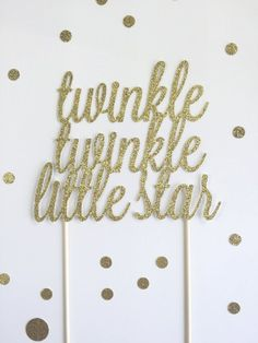 Twinkle Twinkle Little Star Cake Topper / by mikaspartyshop