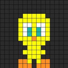 Mini Tweety Perler Bead Pattern   Bead Sprites   Characters Fuse Bead Patterns