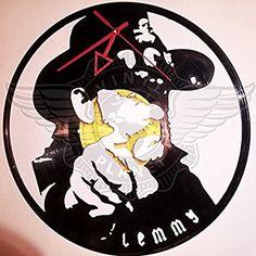 VINYL WALL CLOCK LEMMY KILMISTER 2