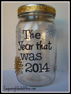New Year #Memory Jar #Celebrate the past year! couponingtobedebtfree.com