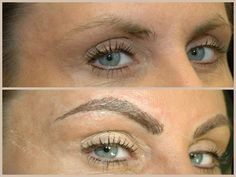 704-796-8221  Tattooed permanent cosmetics makeup eyebrows   Natural looking hair strokes / brush strokes.  Concord, NC  Charlotte, NC