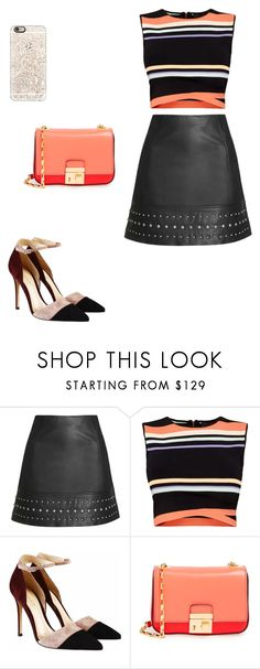 """""""Untitled #94"""" by sarahavamarie ❤ liked on Polyvore featuring Topshop, Ted Baker, Gianvito Rossi, Michael Kors and Casetify"""