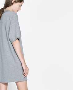 Image 4 of FUNNEL COLLAR DRESS from Zara