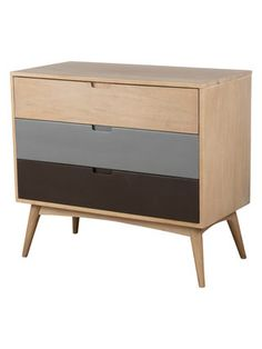 Oxford Multicolored Rectangular Chest by East at Main at Gilt Entryway Cabinet, Furniture Restoration, Painted Furniture, Furniture Ideas, Shades Of Grey, Credenza, Mid-century Modern, Drawers, Oxford