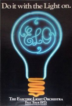 """nerktwin: """" """" the electric light orchestra fall tour 1973 do it with the light on """" """""""