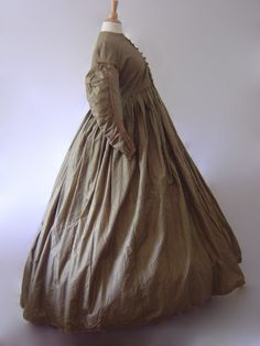 See the image with interior detail of this1850s Maternity Dress.