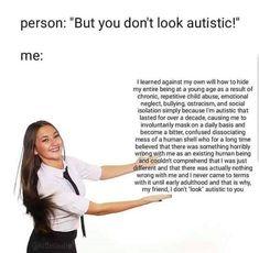 Satire, Adhd And Autism, Autism Humor, Autism Facts, Autism Quotes, Autism Support, Understanding Autism, Autistic People, Mental Health