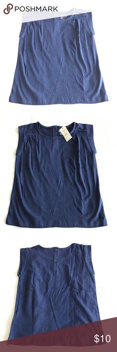 Gap blue sleeveless top 4T 100 % cotton NWT!! Gap blue sleeveless top 4T 100 % cotton GAP Shirts & Tops Tank Tops