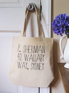 P. Sherman, Finding Nemo tote, disney pixar tote bag, Finding nemo, P. Sherman. $14.00, via Etsy.