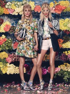 Who said you can't wear florals for fall? Explore the trend on wmag.com.