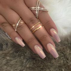 Fairydust blush pink coffin nails prom makeup в 2019 Fabulous Nails, Gorgeous Nails, Pretty Nails, Dark Nails, Long Nails, Hair And Nails, My Nails, How To Do Nails, Ongles Roses Clairs