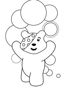 6 awesome Children In Need colouring pages for girls All