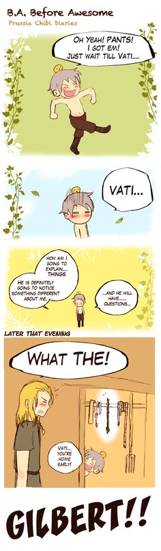 Chibi Prussia Diaries 28! How does poor Germania put up with little Prussia every day?