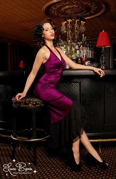 Pin up clothing  The Salsa Dress in Dark ...