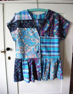 Following on from my 80s top in summer blues vintage textiles, I went on to make this patchwork peplum top using a self drafted pattern w...