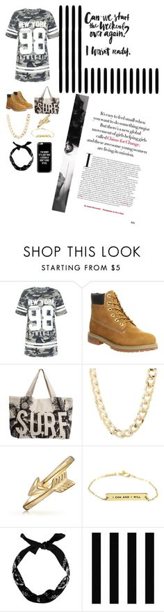 """""""T-shirt dress"""" by itsmegirrrl ❤ liked on Polyvore featuring New Look, Timberland, Rip Curl, Charlotte Russe, Bling Jewelry, Graham & Brown, Casetify and shirtdress"""