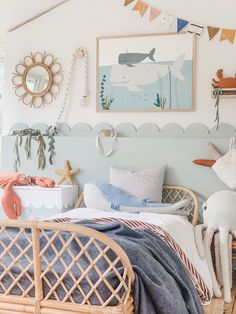 Learn how to create this great DIY project - transform this Ikea Lixhult cabinet with a free printable scalloped template Girl Room, Girls Bedroom, Bedroom Decor, Seaside Bedroom, Boy Toddler Bedroom, Seaside Theme, Kid Bedrooms, Ikea Hack Kids, Ikea Hacks