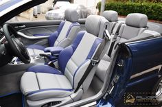 bmw 3 series convertible grey blue and black interior