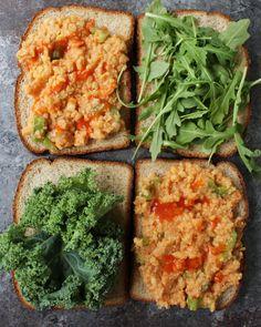 Vegan Buffalo Chickpea Salad Sandwich - vegan lunch idea