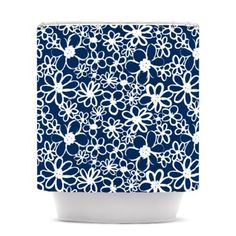 Kess InHouse Robin Dickinson You Can Move Mountains Blue White Photography Round Beach Towel Blanket