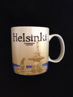 Starbucks Helsinki Mug Finland Icon New SKU Mermaid Seal Skyline US Ship #Starbucks