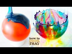 candy bowl made with simple syrup, food coloring and a balloon. Press play to learn how to make this beautiful, yet delicate bowl