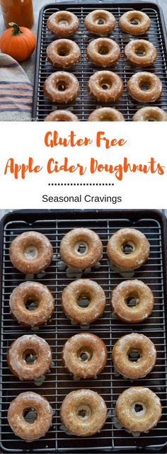 Make these Gluten-Free Apple Cider Doughnuts for a sweet, after school fall treat. Your family will love you for it. They are light, fluffy and full of fall apple cider flavor. You'll never know they (Vegan Gluten Free Apple) Gluten Free Deserts, Gluten Free Donuts, Gluten Free Sweets, Gluten Free Breakfasts, Foods With Gluten, Gluten Free Cooking, Vegan Gluten Free, Gluten Free Donut Recipe Baked, Healthy Breakfasts