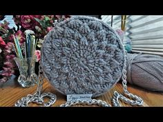 Crochet Lyza round bag part From round 8 to Making a plastic canvas bag stiffener/shaper. Step by step t. Crochet Car, Crochet Round, Crochet Gifts, Crochet Bag Tutorials, Crochet For Beginners, Crochet Projects, Crochet Stitches, Crochet Hooks, Step By Step Crochet