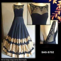 Elegant Fashion Wear: Stunning Long Black Frock Price:26900/-   #longfrock…
