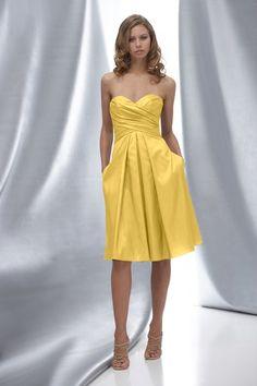 WTOO bridesmaid dress: Style 628, Citronella (yellow) / looks like it has pockets!