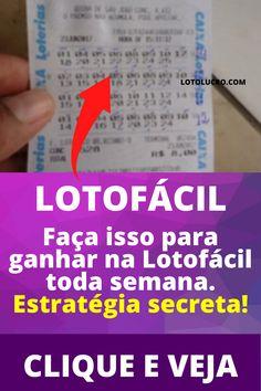 segredo para ganhar na lotofácil