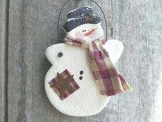 Décor de Noël bonhomme de neige Noël par cookiedoughcreations