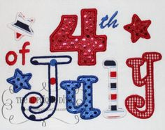 4th of July USA Embroidery Design Applique by theappliquediva