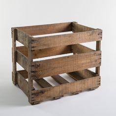 Große alte Weinkiste eignet sich für DIY Kreationen. #crate