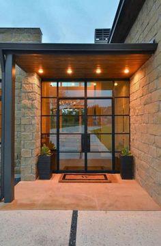 New Modern Glass Front Door Entrance House Ideas Modern Front Door, Front Door Design, Entrance Design, Entrance Ideas, Contemporary Front Doors, Unique Front Doors, Modern Porch, Home Modern, Window Design