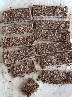 Chocolate Coconut Chia Seed Bars