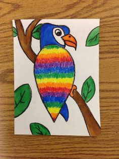 2 - Birds of Color, 6 Hue Color Wheel Hue Color, Moose Art, Butterfly, Rainbow, Birds, Parrots, Painting, Animals, Coloring Pages