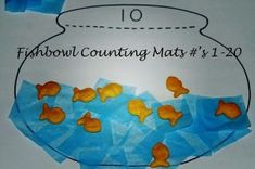Fishbowl Math Mats to Create and Count - numbers 1-20 free to print #preschool #kindergarten