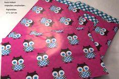 10  Papiertüten Eulen pink 17 x 25 cm Geschenktüte von ஐღKreawusel-aufgehübscht✂ஐ  auf DaWanda.com