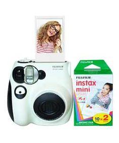 Fujifilm Instax Mini 7 Camera Bundle with 20 Film Pack.