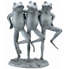 Garden Decor Statue Frogs Set Of 3 Outdoor Patio Ornaments Yard Decorations Art Can Be Repeatedly Remolded. Garden Décor
