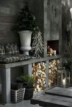 33 Stylish Shades Of Grey Christmas Decor Ideas Home Decor Bedroom, Living Room Decor, Outdoor Spaces, Outdoor Living, Decoration Shabby, Marquise, Winter House, Winter Cabin, Cozy Winter
