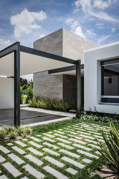 Grass / Cement Brick Pathway