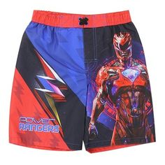 Color Black And Red Sizes 4 5/6 7 Made From 100% Polyester Brand Power Rangers Officially Licensed Power Rangers Swimwear